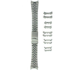 Watch Band Stainless Steel Metal  Mens Fits 18-22 millimeters End Pcs.