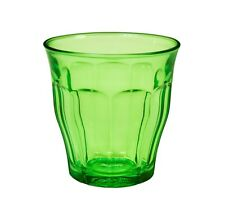 Duralex - Picardie Colored Tumbler Green Drinking Glass, 8 3/4 oz. Set of 6