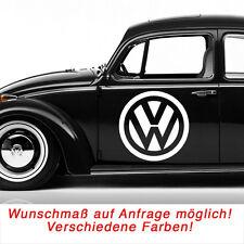 VW Volkswagen Logo Autoaufkleber Aufkleber Sticker Decal Wandtattoo schwarz #72