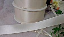 (0,68€/m)  2m Satinband Schleifenband 25mm Hochzeit Kobfirmation creme Satin
