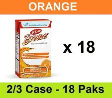 NEW Nestle BOOST Breeze Nutritional Supplement Orange 8oz Drink - 18 Tetra Briks