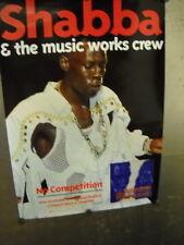 SHABBA RANKS Large Rare PROMO POSTER Music Work Crew MINT CONDITION
