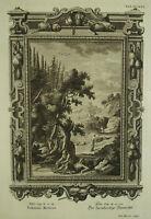 Grabado Siglo XVIII c1740 Vida De Jesús El Bon Samaritano Luc X v36 P G Harder