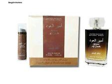 Ameer Al Oudh 100ml WITH DEO perfume Spray EDP Oud by Lattafa UK Distributor