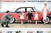 1955 ORIGINAL VINTAGE 2 PAGE DODGE CUSTOM ROYAL LANCER CAR MAGAZINE AD **