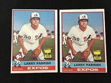 (2) LARRY PARRISH ROOKIES 1976 TOPPS MONTREAL EXPOS RC VINTAGE BASEBALL CARDS