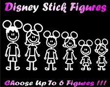 Disney Family Stick Figure Decal Car Window Sticker Custom Free Bonus