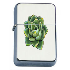 Cactus and Succulents Plants D1 Flip Top Dual Torch Lighter Wind Resistant