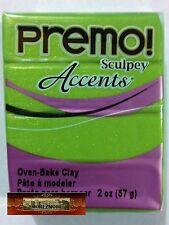 M00613 MOREZMORE Premo Accents Sculpey BRIGHT GREEN PEARL 2 oz Polymer Clay A60