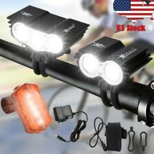Bicycle Light Bike Front Lamp Headlamp 1000LM LED X3 X2 Rechargeable SolarStorm