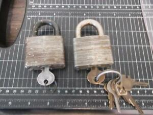 2 Vintage Master Lock No. 5 Locks and Keys