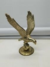 """Vintage Large Solid Brass Flying Eagle Figure/Statue - 10-1/2""""×7"""""""
