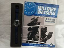 EAGLEMOSS MILITARY WATCHES - BRITISH SBS COMMANDO 1970'S WATCH ISSUE 3 + MAG