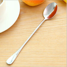 """New listing 7.4""""L Oval Long-handled Stainless Steel Rice Spoon Soup Spoon High in Quality"""