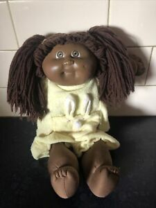 Vintage African American Cabbage Patch Doll Coleco OK # 3 Black Signature 1984