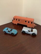 Vintage Cast Metal Midgetoy Lot Train Cars - Free Shipping!!