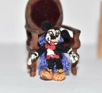 Miniature Ooak Mickey Mouse Artist Disney Character Dollhouse Doll Toy Gift 1.2""
