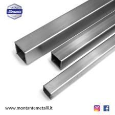 Profilo Tubo Quadro Acciaio Inox Aisi 304 Da 10 a 60 mm in Diverse Dimensioni