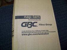 """2 GBC Heatseal Nap-Lam Film Thermal Lamination Film 1.5 Mil 25"""" X 500' 3000004"""