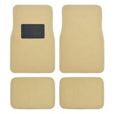 Light Beige Tan Cream Car Floor Mats Liner Pads Utility Mat Standard Fit 4pc Set