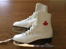 New listing Vintage White Canadian Maple Leaf Women's Ice Skates - Canada Size 9