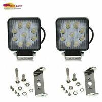 Pair 4INCH 27W LED WORK LIGHT BAR Flood OFFROAD ATV FOG TRUCK LAMP 4WD 12V