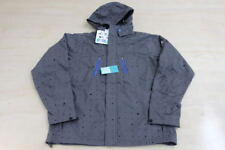 STUSSY DUPONT TEFLON PARKA JACKET WITH HOODIE GRAY MEDIUM M RAIN SNOWBOARD