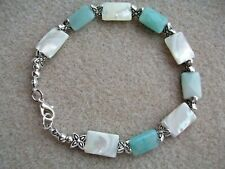 Amazonite and Mother of Pearl Bracelet