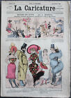 """Albert ROBIDA Journal LA CARICATURE N°43 1880 Couv. Couleurs """"Modes du Jour"""""""