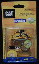 Bruder Schlüsselanhänger  CAT Bulldozer Planierraupe Raupe Mini klein Neu&OVP