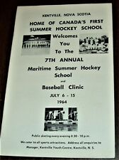 New listing 1964 SUMMER HOCKEY & BASEBALL SCHOOL  KENTVILLE, NOVA SCOTIA FIRST IN CANADA