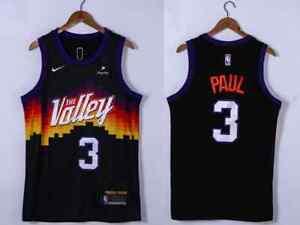 Phoenix Suns #3 Chris Paul Black 2021 NBA Playoffs Jersey