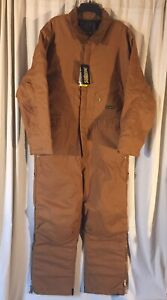 Walls Mens Insulated Waterproof Brown Coveralls Size XL R