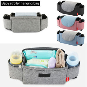 Baby Stroller Hanging Bag Pram Organizer Kids Bottle Diaper Storage Pocket