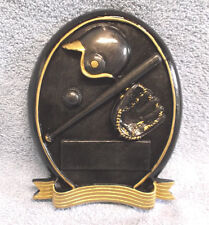 Baseball self standing oval trophy resin award Rf0S025