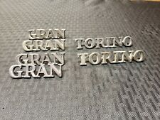 1971-1972-1973-1974 Ford Gran Torino Original OEM Badge Script Emblems Lot Look