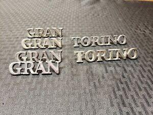 1971-1972-1973-1974 Ford Gran Torino Original OEM Badge Script Emblems Lot Look