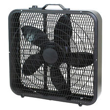 Comfort Zone 3 Speed High Performance Box Fan Air Conditioner, 20 Inch (Used)