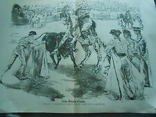 A Good Spades Taureau Corrida Print Art 1897