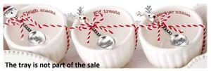 Mud Pie H0 Circa Christmas Sleigh Bowl & Spoon 6pc Set 42300017 No Cracker Dish