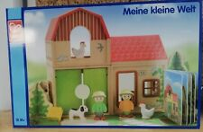 Hape 'My Little World' no 5000 Kids Wooden Construction House / Farm GERMAN