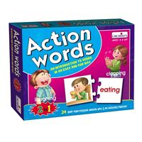 Creative Action Words Verbs Introduction Activity Game Kids Educational Aid