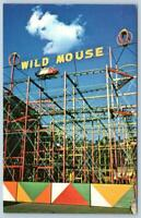 WILD MOUSE ROLLER COASTER ELITCH GARDENS AMUSEMENT PARK DENVER COLORADO POSTCARD