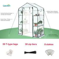 "Quictent 56""x29""x77"" 3 Tiers 6 Shelves Walk-in Outdoor Mini Greenhouse Planter"