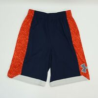 "Under Armour Mens UA Shorts Isolation Long 11"" Ins  Basketball Shorts Blue Red M"
