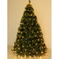 Mantello 192 luci a led bianco caldo per albero di Natale 1,8 mt con 8 giochi