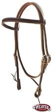 """Browband Headstall Stitched 5/8"""" Brown Latigo Leather by Weaver New Free Ship"""
