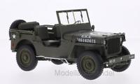 Jeep Willys, matt-oliv, U.S. Army, offen  -  1:18 Welly   >>NEW<<