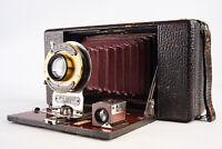 Antique Ansco No 9 Model C Folding Bellows Camera WORKS V10