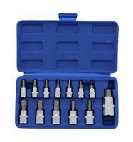 ABN 13 Piece SAE Hex Bit S2 Steel Socket Tool Kit Socket Set